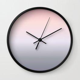 PinkGray Gradient Wall Clock