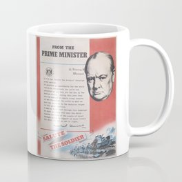 Reprint of Winston Churchill British wartime poster. Coffee Mug