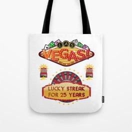Las Vegas 25th Wedding Anniversary Gift Tote Bag