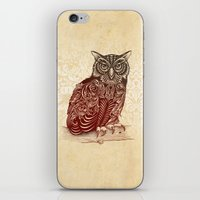 ornate iPhone & iPod Skins featuring Most Ornate Owl by Rachel Caldwell