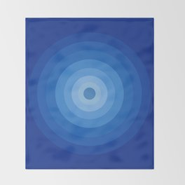 Blue Retro Bullseye Throw Blanket