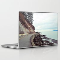 stanley kubrick Laptop & iPad Skins featuring Stanley Park by Victoria Tsukanova