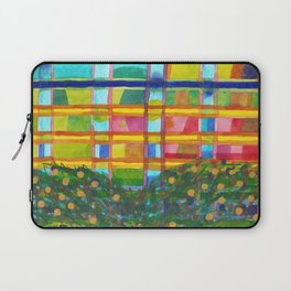 Tree In Front Of A Building Laptop Sleeve