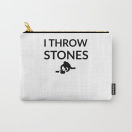 I Throw Stones | Funny Curling Player Gift Carry-All Pouch