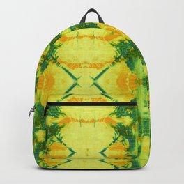 Radiant Yellow Indigo Shibori Backpack