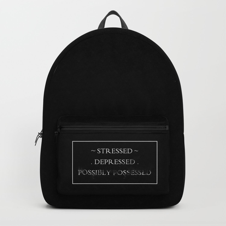 Stressed Depressed Tote Bag Shoulder Handbag Canvas Tumblr