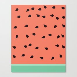 SCATTERED WATERMELON Canvas Print