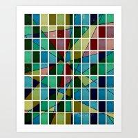 mosaic Art Prints featuring Mosaic by Tammy Kushnir