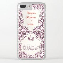 Antique Book * Literacy Art for Book Lovers * Rudyard Kipling  purple white #antiquebooks Clear iPhone Case