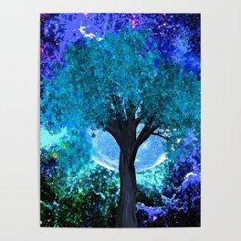 TREE MOON NEBULA DREAM Poster
