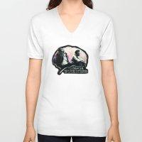 tyler durden V-neck T-shirts featuring Fight Club Tyler Durden by Anne LaClair