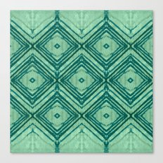 watercolor diamond seafoam green Canvas Print
