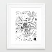 prague Framed Art Prints featuring PRAGUE by Maps Factory