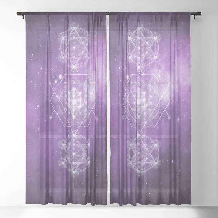 Sacred Geometry - We are Stardust Sheer Curtain