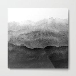 Black Ombre on Concrete Texture Metal Print