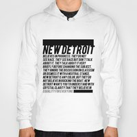 detroit Hoodies featuring New Detroit by ashurcollective