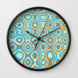 Mixed Polyps Orange - Coral Reef Series 038 Wall Clock