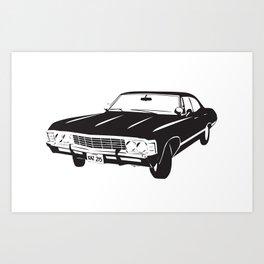 Supernatural Chevrolet Impala 67' Art Print