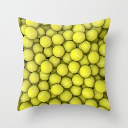Tennis balls Throw Pillow