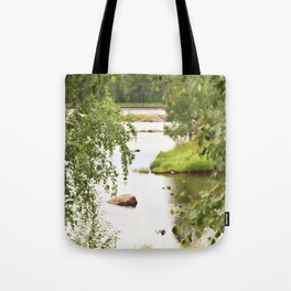 Riverside Kemijoki Finland Tote Bag