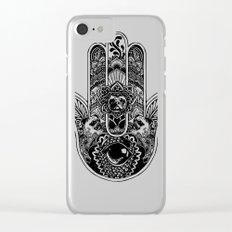 Hamsa Hand Pug Clear iPhone Case