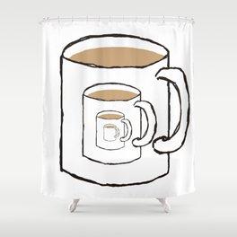 Existential Mug Shower Curtain