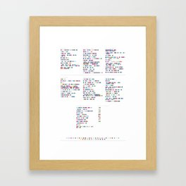 Air Discography in Colour Code Framed Art Print
