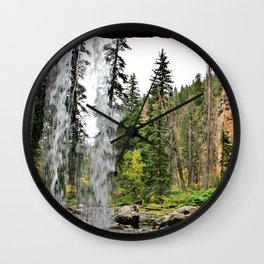 Spouting Rock Waterfall, Colorado Wall Clock
