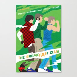 80s TEEN MOVIES :: THE BREAKFAST CLUB Canvas Print