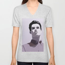 Model Man A (Purple Hue) Unisex V-Neck