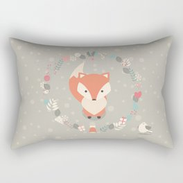 Christmas baby fox 02 Rectangular Pillow