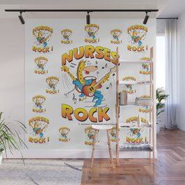 Nurses Rock Pattern Wall Mural