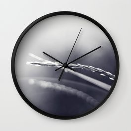 Evening Light in Black and White Wall Clock