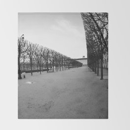 Jardin du Palais Royal Throw Blanket