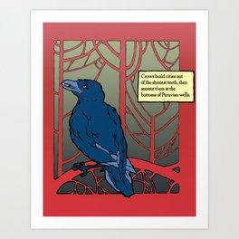 Crow habits. Art Print
