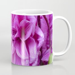 Fresh Rain Drops - Magenta Dahlia Coffee Mug