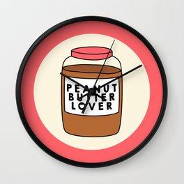 Peanut Butter Lover Wall Clock
