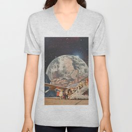 INTO THE ETHER Unisex V-Neck