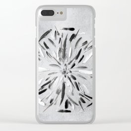 Feather mandala Clear iPhone Case
