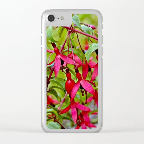 Pink Fuchsia Blossoms Clear iPhone Case