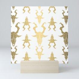 "Goat Skull Design- Gold - Mr.Phillip "" The Witch"" / Chilling Adventures of Sabrina / Halloween Mini Art Print"