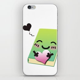 Book Emoji Love iPhone Skin