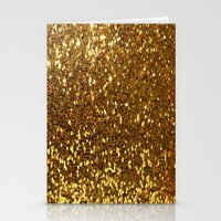 gold glitter Stationery Cards featuring GOLD GLITTER by I Love Decor