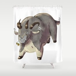 Cute Guild Wars Dolyak Shower Curtain