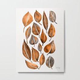 Cascading Leaves – Orange Palette Metal Print