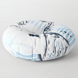 Double Bassist Floor Pillow