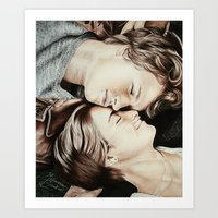 the fault in our stars Art Prints featuring The Fault in Our Stars by Francesca Cosentino
