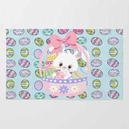 Easter Bunny Easter Basket Rug