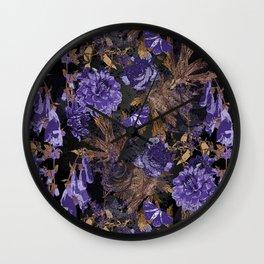 Opulent midnight garden Wall Clock