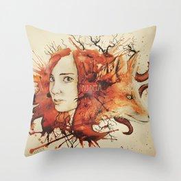 Doris & The Fox Throw Pillow